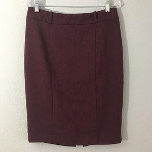 Wine/Burgandy Tweed Pencil Skirt